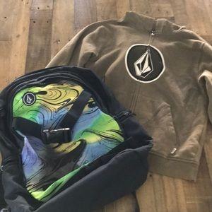 Volcom backpack & Hoodie